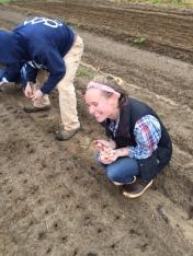 Anna excited about garlic
