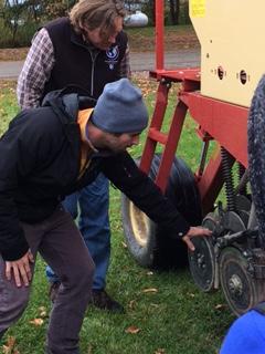Drill seeder demonstration