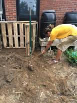 Pete making compost bin